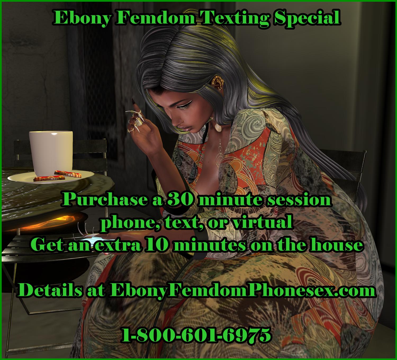 Duchess Willow Ebony Femdom Texting Special