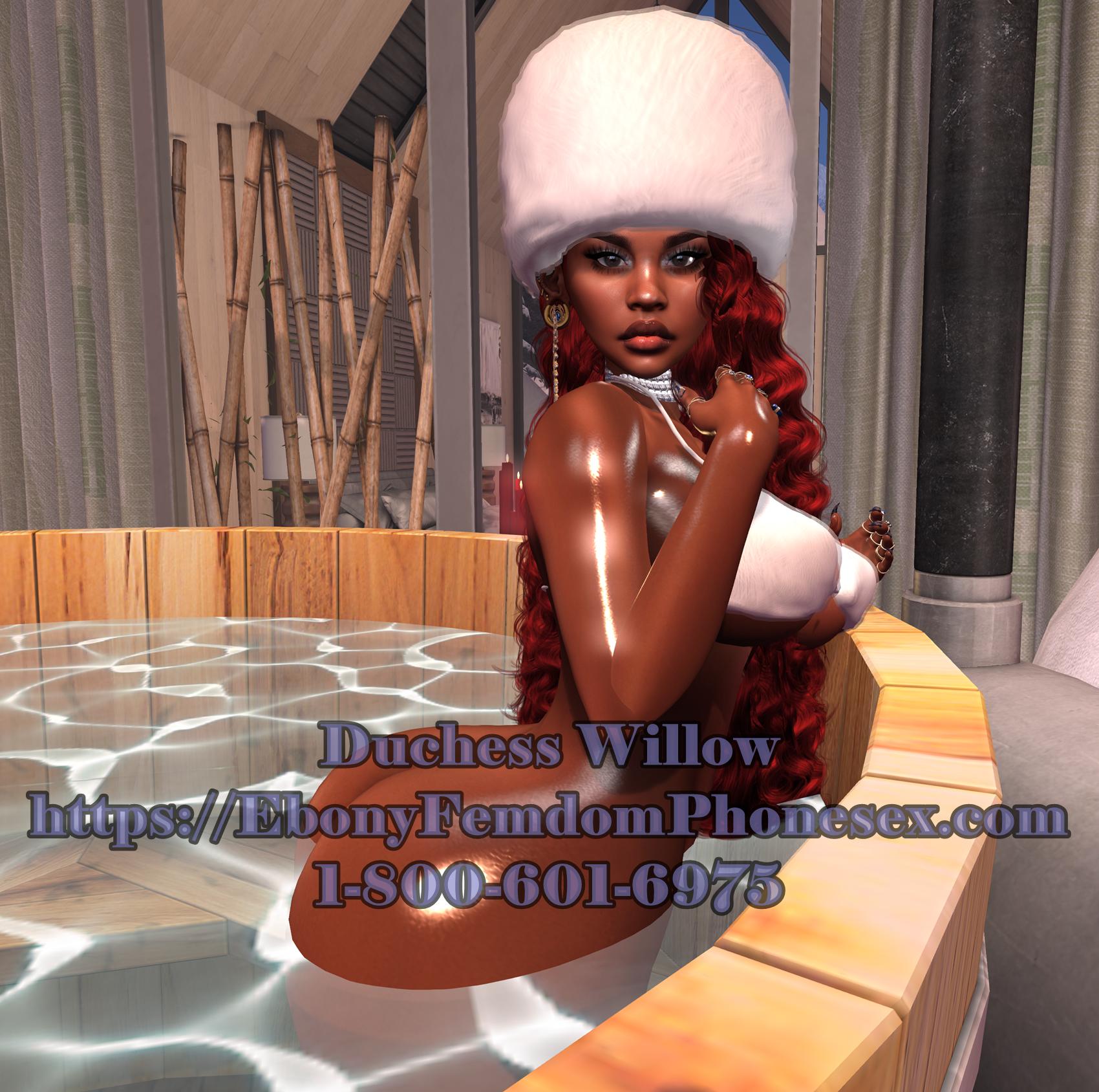Ebony Femdom Mistletoe